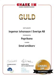 Chark SM Guldmedalj 2014 Paprikana