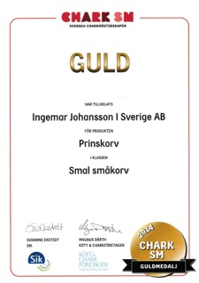 Chark SM Guldmedalj 2014 Prinskorv